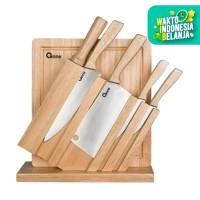 Oxone OX 95 Wooden Knife & Chop Board Set [ 7 in 1]