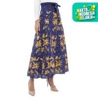 Radinka - Rok Batik Wanita Tulis Madura Motif Bunga - Biru