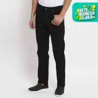 Papperdine 216 Black Straight Fit Celana Panjang Pria Chinos Stretch