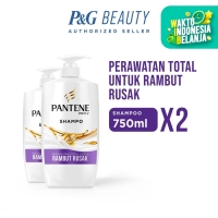 Pantene Shampoo Total Damage Care 750ml - Paket isi 2