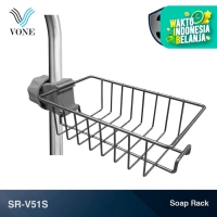 VONE SR-V51S Stainless Rak Sabun Jepit Gantung Tiang Sink Kamar Mandi
