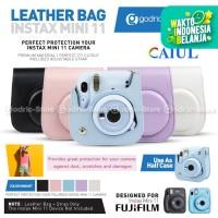 Leather Bag Fujifilm Instax Mini 11 Tas Kamera Polaroid Case Fuji 11 - PURPLE