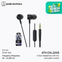 Audio Technica ATH-CKL220iS In-Ear Headphone with Mic - Black