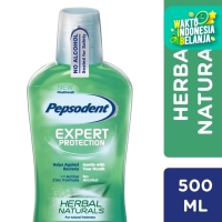 Pepsodent Mouthwash Herbal Natural 500Ml