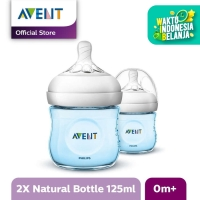 Philips Avent Botol Susu Natural Twin - Biru - SCF692/23