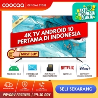 COOCAA 50 inch 4K Smart TV - TV Android 10.0 (Pertama di Indonesia)