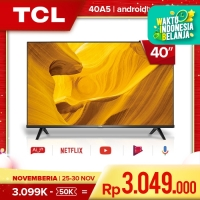 TCL 40 inch Smart LED TV - Android - Frameless - FHD - Model : 40A5