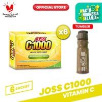 Joss C1000 Vitamin C 6 Pack (36 sachet) FREE Tumblr