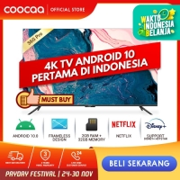 COOCAA 55 inch 4K Smart TV - TV Android 10.0 (Pertama di Indonesia)