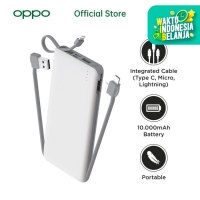 OASE Powerbank P11C 10000mAH with 3 Build-In Cable - OPPO Official Acc