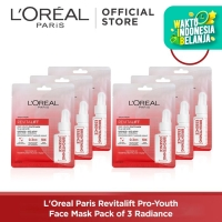L'Oreal Paris Revitalift Pro-Youth Face Mask Pack of 3 - Radiance