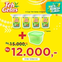 Teh Gelas - Original 170ml - [4 Pcs] + Toples