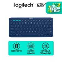 Logitech K380 Bluetooth Keyboard Blue For Windows, Mac, Android, iPad