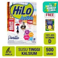 HiLo Active Vanilla 500gr FREE Lokalate Kopi Alpukat (10 Sch)