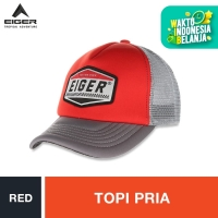 Eiger Riding Custom Garage Trucker Caps - Red L / Topi Pria