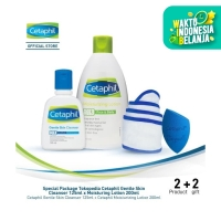 Special Package Tokopedia Cetaphil Gentle Skin Cleanser x Moist Lotion