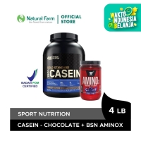 Optimum Nutrition Casein Chocolate 4 Lb + BSN Amino X