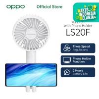 OASE Mini Fan Phone Holder LS20F [3 Speed Regulations, 2 Hour Battery]