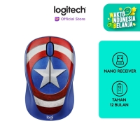Logitech M238 Marvel Collection Wireless Mouse - CAPTAIN AMERICA