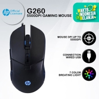 Mouse Gaming HP G260 - 5500DPI RGB Macro Programmable