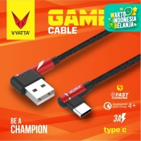 VYATTA GAMER TYPE C USB CABLE - FAST CHARGE GARANSI 12 BULAN