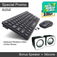 Keyboard PC Komputer Combo Paket Mouse Wireless