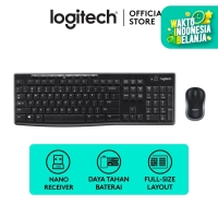 Logitech MK270r Wireless Keyboard Mouse Wireless