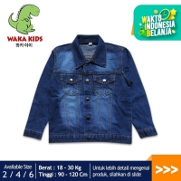 Skabe Jaket Jeans Anak Denim Stone Wash Usia 2-5 Tahun K57