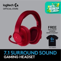 Logitech G433 7.1 Surround Gaming Headset - Red - Free Merchandise