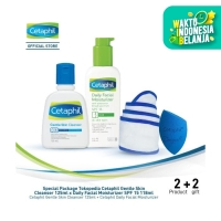 Special Package Tokopedia Cetaphil Gentle Skin Cleanser x Daily Facial