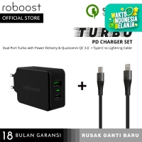 roboost Turbo PD Set Fast Charger + Kabel Data for iPhone iPad iPod