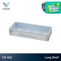 VONE CS-A02 Single Long Shelf Rak Panjang Kamar Mandi Toilet Chrome