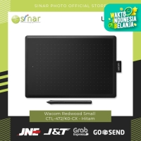 One by Wacom Redwood Small CTL-472/K0-CX - Hitam