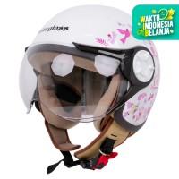 Cargloss YRH Helm Hijab X Ayang Cempaka Helm Half Face - White