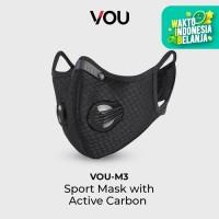 VOU Sport Mask Active Carbon Masker Olahraga Double Valve PM 2.5