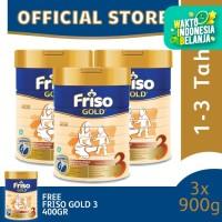 Friso Gold 3 Susu Anak 900g [3 pcs] Free Gift