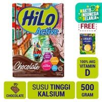 HiLo Active Chocolate 500gr FREE Lokalate Kopi Alpukat (10 Sch)