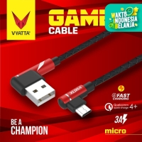 VYATTA GAMER KABEL DATA MICRO USB - FAST CHARGE - GARANSI 12 BULAN