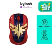 Logitech M238 Marvel Collection Wireless Mouse - CAPTAIN MARVEL
