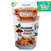 Mushome Chips - Keripik Jamur Tiram Original - 80gr
