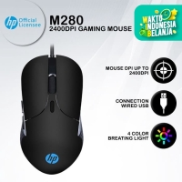 Mouse Gaming HP M280 - 2400DPI RGB Macro Programmable - A