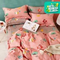 Sleep Buddy Set Sprei Lil Fish Cotton Sateen Queen Size Kombinasi