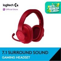 Logitech G433 7.1 Surround Gaming Headset - Red