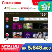 Changhong BORDERLESS Android 9.0 4K UHD Smart TV 55Inch LED TV-U55H7