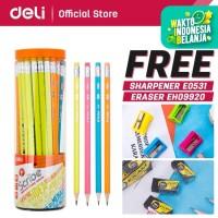 Deli Pensil / Pencil - 2B 50pcs/tabung - Sudah diasah EU51006