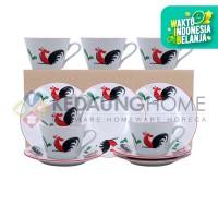 KedaungHome Tea Set Ayam Jago Lining, KPV-02CS/12-2BBL AYAM