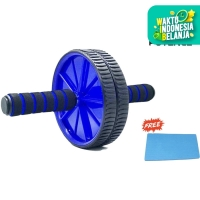 POTENCE AB ROLLER DOUBLE WHEEL WITH MAT / AB WHEEL / ALAT GYM