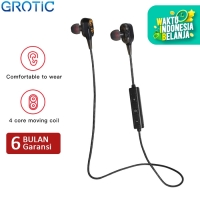 Headset Bluetooth GROTIC XT21 Dual Dynamic Driver DJ Wireless Earphone - Hitam