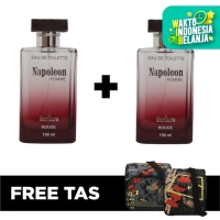 Eau De Toilette EDT Napoleon Rouge 100 ml (2pcs) - FREE TAS