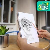 Deli Sketch book B5 40 lembar kraft paper vertikal 73601
